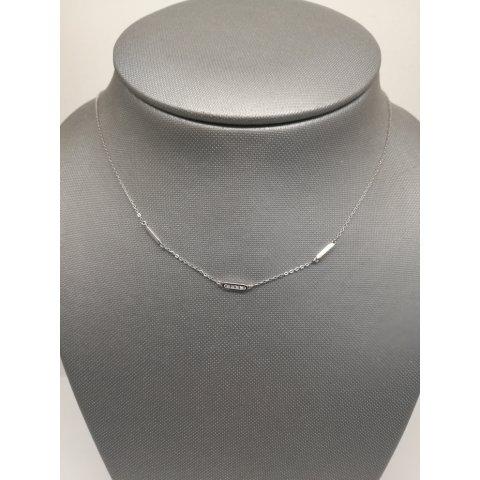 Collier Or Blanc 375/000  Diamants