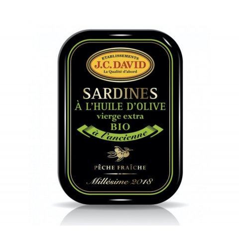 Sardines à l'huile d'Olive BIO, Millésime 2018