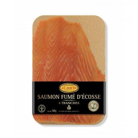 SAUMON D'ÉCOSSE FUMÉ À L'ANCIENNE 4 TRANCHES