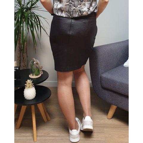 Jupe noire suédine poches zippées