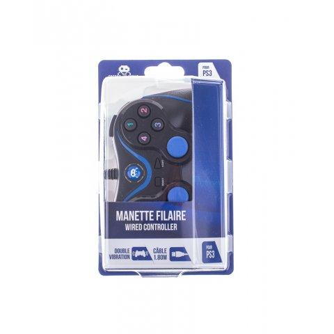 Manette Filaire Noire pour PS3 et PC