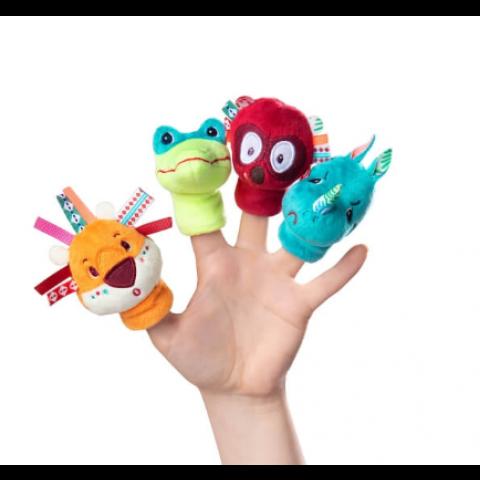 """Marionnettes à doigts"""" Jungle"""". LILLIPUTIENS"""