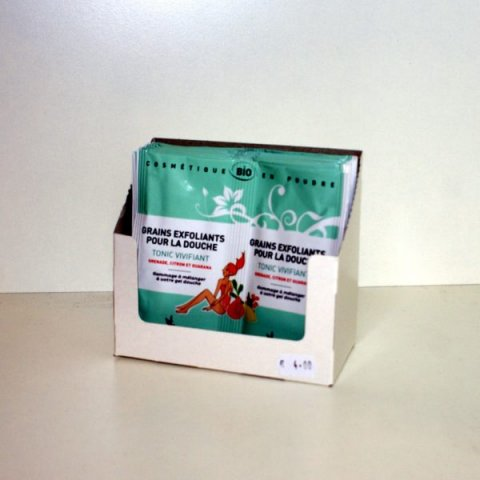Grains exfoliants pour la douche Tonic/Vivifiant-2 doses Secrets des Fées