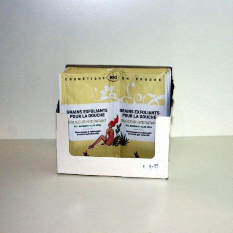 Grains exfoliants pour la douche Douceur/Hydratant-2 doses Secrets des Fées
