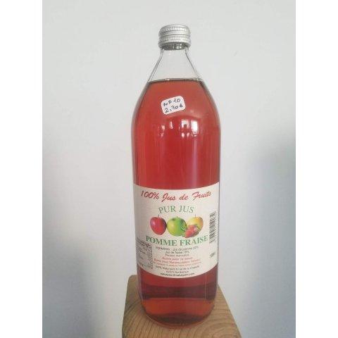 Pur jus de pomme-fraise