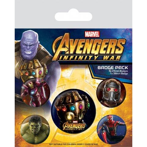 Pack de 5 badges Avengers Marvel
