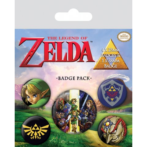 Pack de 5 badges Zelda