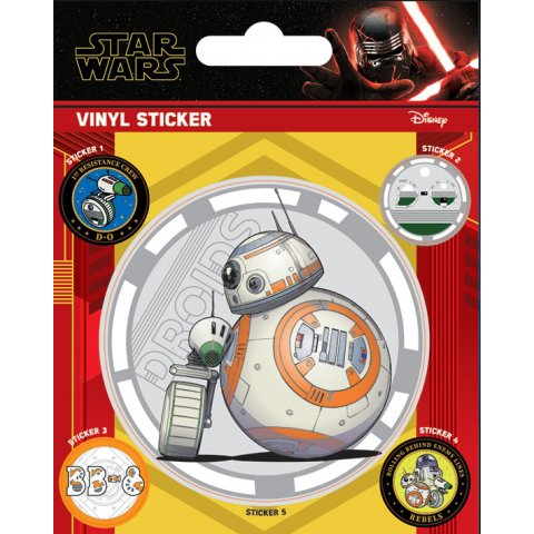 Pack de 5 Stickers Droids Star Wars