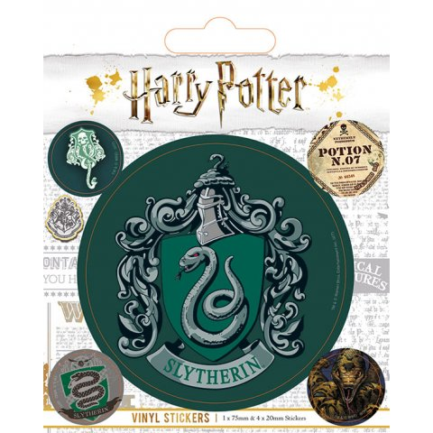 Pack de 5 Stickers Harry Potter Serpentard