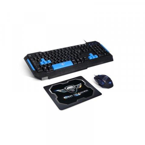 Pack Spirit Of Gamer PRO-MK6 Clavier et Souris filaire USB + tapis