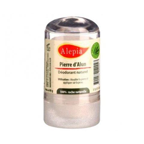 Déodorant naturel à la pierre d'alun. Stick de 60g. ALEPIA