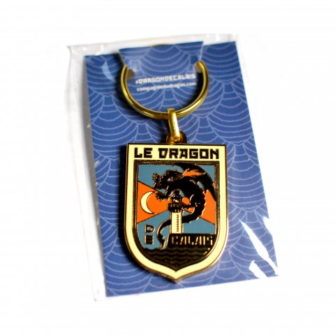 Porte-clés émaillé 'Blason Dragon de Calais'