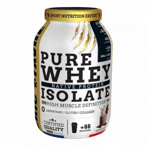 Pure Whey Protein Native 100% Isolate 750g (Masse Musculaire)