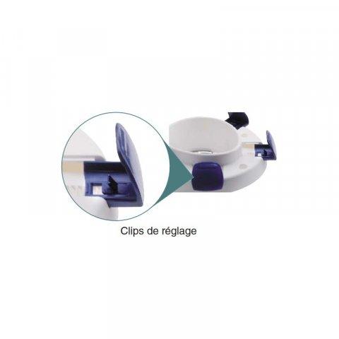 Réhausse-wc CLIPPER III avec couvercle