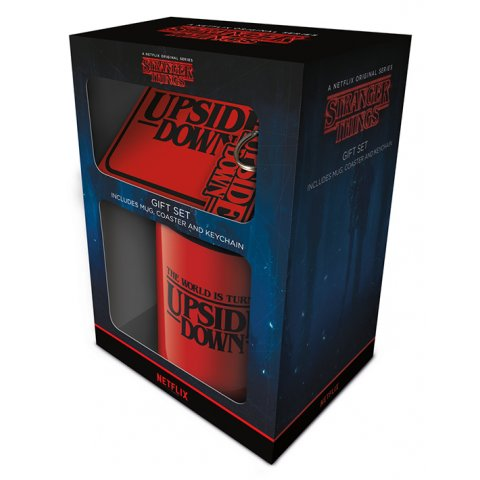 Set Stranger Things Mug sous verre et porte-clés Upside Down