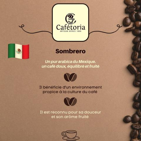 CAFÉ SOMBRERO - MEXIQUE