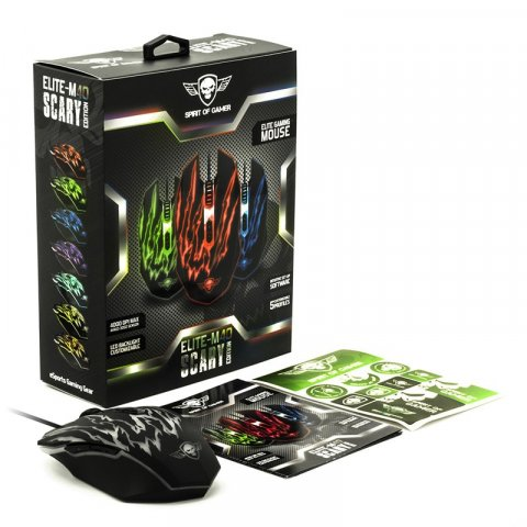 Souris Fil. Sirit Of Gamer Elite-M40 SCARY EDITION -7 Boutons-4000 DPI