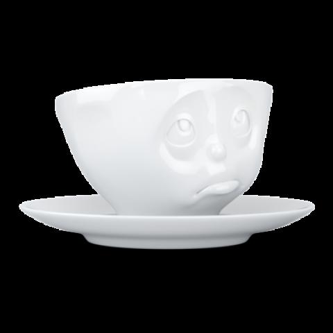 Tasse + sous tasse Oh s'il vous plaît blanc