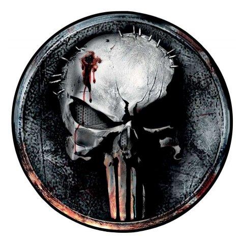 Tapis Punisher Skull rond