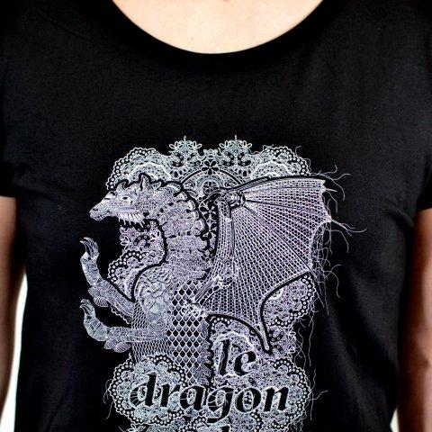 T-shirt femme 'Dragon & Dentelle'