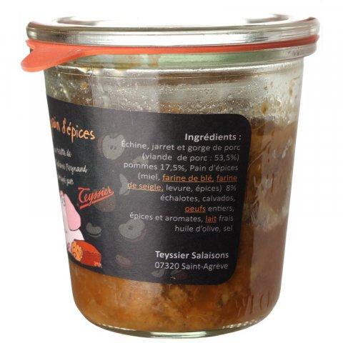 Terrine Cochon Pommes Pain d'épices. Teyssier