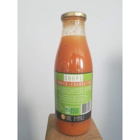 Soupe Tomate-courgette