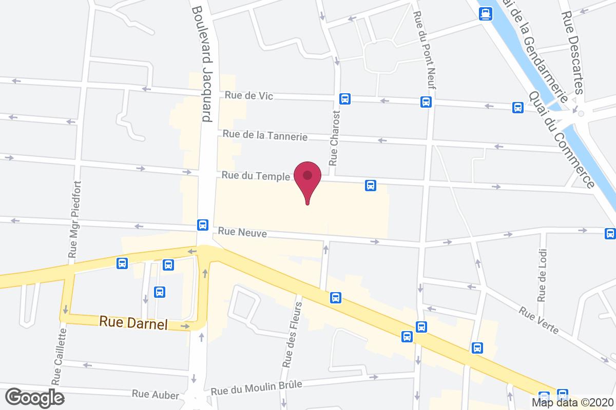 Plan d'accès pour Les produits locaux d'Élo
